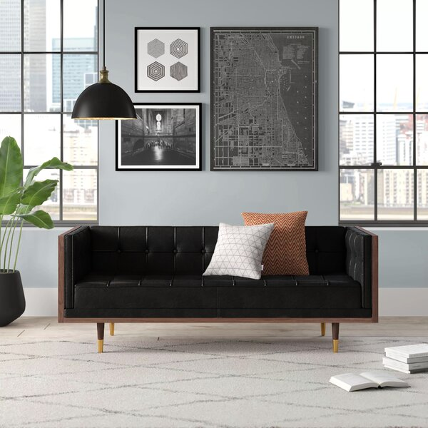 Lancaster Leather Loveseat by Comm Office
