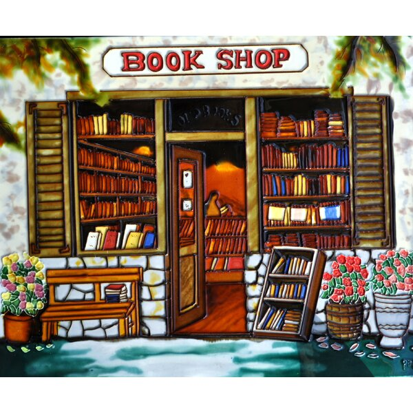 Book Store Tile Wall Decor by Continental Art Center