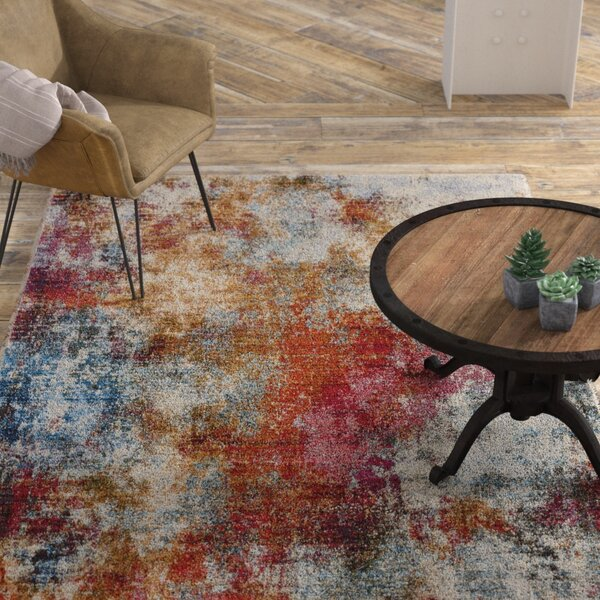 Mcmeans Red/Blue Area Rug by Williston Forge