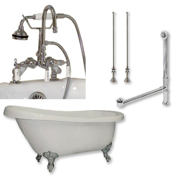67 x 28 Clawfoot Soaking Bathtub by Cambridge Plumbing
