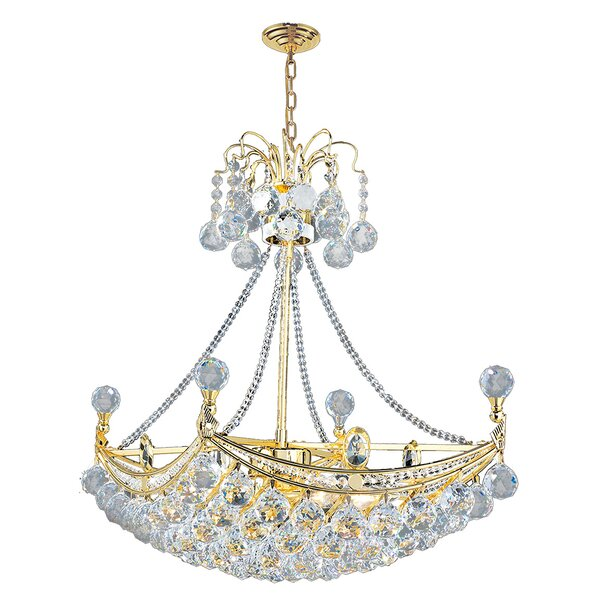 Carson 6-Light Crystal Chandelier by House of Hampton