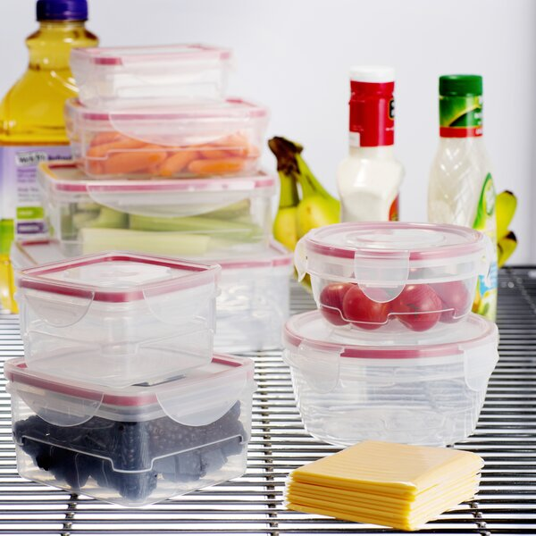Wayfair Basics Plastic 8 Container Food Storage Set by Wayfair Basics™