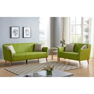 Altha 2 Piece Leather Living Room Set by Corrigan Studio®