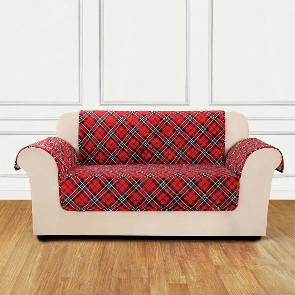 Lodge Box Cushion Loveseat Slipcover by Sure Fit