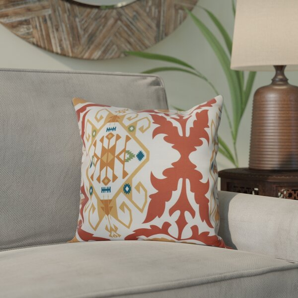 Meetinghouse Bombay Medallion Geometric Print Throw Pillow by Bungalow Rose