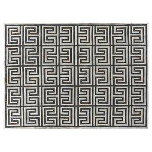 Handmade Charcoal/Ivory Rug