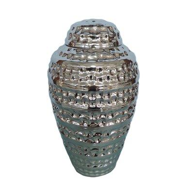 Orren Ellis12 Modern Decorative Ceramic Lidded Storage Jar Orren Ellis Size 16 75 H X 9 5 W X 9 5 D Color Silver Dailymail
