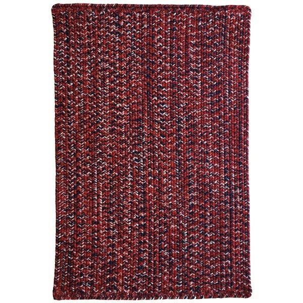 Aukerman Isabelline Hand-Braided Red/Navy Indoor/Outdoor Area Rug by Isabelline
