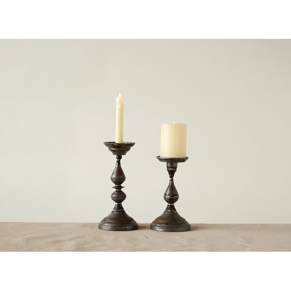 Metal Candlestick by Bungalow Rose