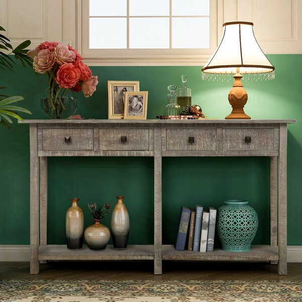 Free Shipping Sharyn 59'' Solid Wood Console Table