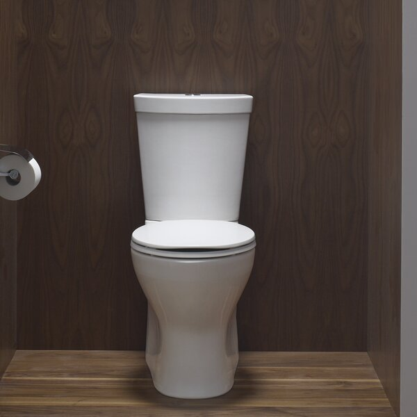 Persuade Skirted Two-Piece Elongated Dual-Flush Toilet with Top Actuator by Kohler