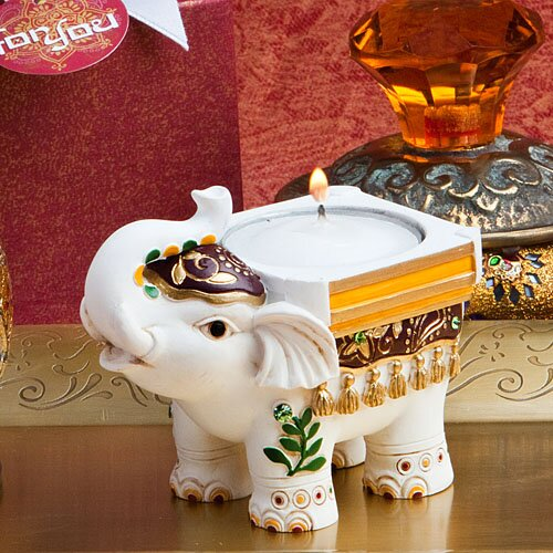 Elephant Tealight Holder (Set of 12) by Bloomsbury Market