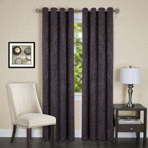 Jensen Damask Semi-Sheer Thermal Grommet Single Curtain Panel