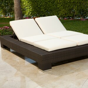 Delightful Ropp Double Chaise Lounge With Cushion