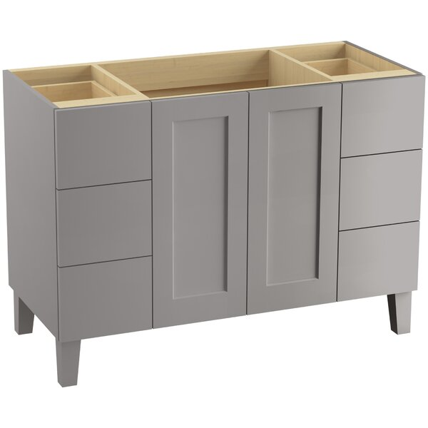 Poplin™ 48 Vanity with Furniture Legs, 2 Doors and 6 Drawers by Kohler