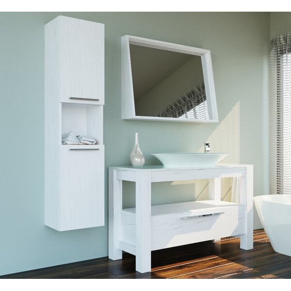 Carlisle 47 Single Bathroom Vanity Set with Mirror by Wrought Studio