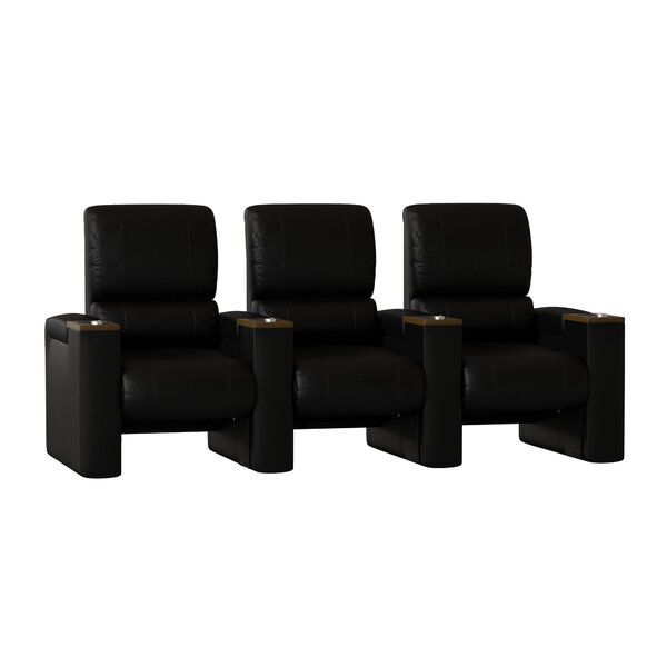 Manual Rocker Recline Home Theater Sofa (Row Of 3) By Latitude Run