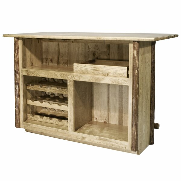 Tustin Wooden Bar with Wine Storage by Loon Peak Loon Peak