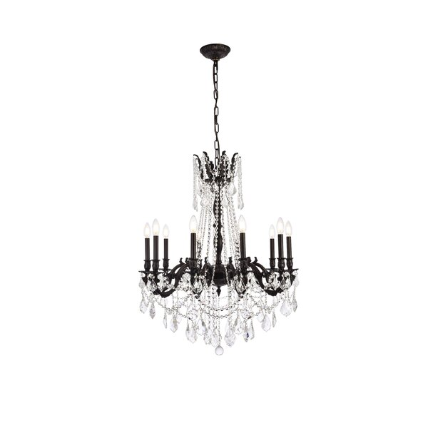 Utica 10 - Light Candle Style Empire Chandelier With Crystal Accents By Astoria Grand