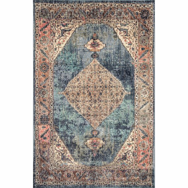 Purcellville Blue/Beige Area Rug by Bungalow Rose
