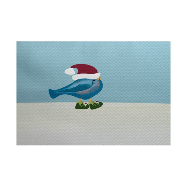 Christmass Blue Indoor/Outdoor Area Rug by August Grove
