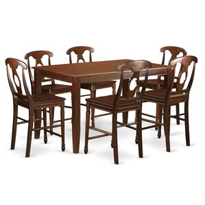 Dudley 7 Piece Counter Height Pub Table Set by East West Furniture