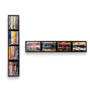Multimedia Wall Mounted Media Storage