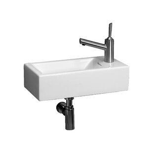 Savings Isabella Vitreous China 20 Wall Mount Bathroom Sink ByWhitehaus Collection