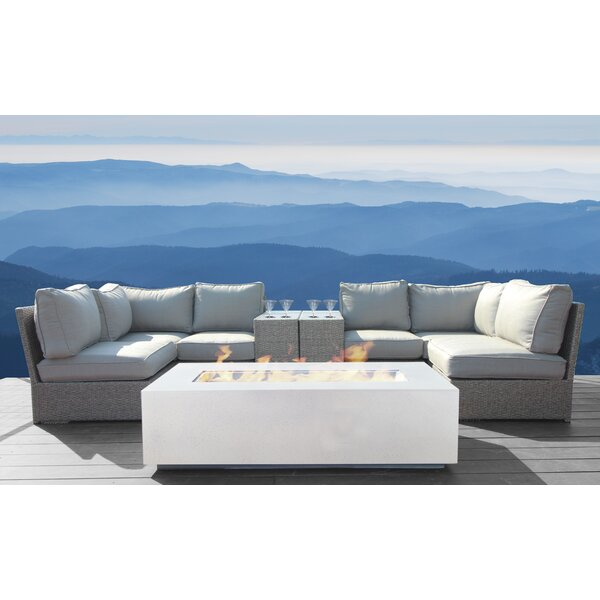 Almyra 9 Piece Rattan Sectional Seating Group by Sol 72 Outdoor