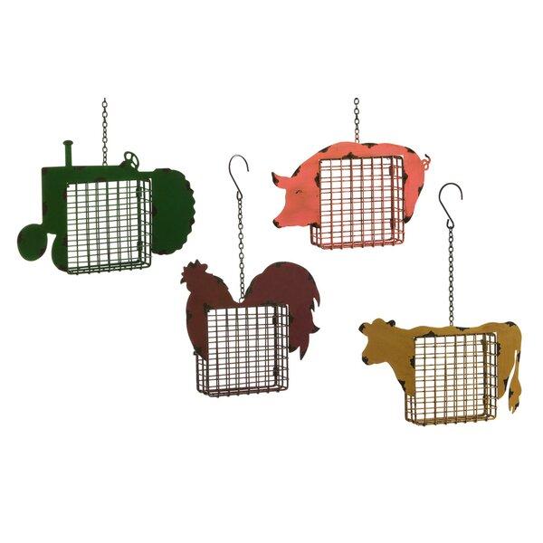 4 Piece Life on the Farm Suet Bird Feeder Set by Evergreen Enterprises, Inc