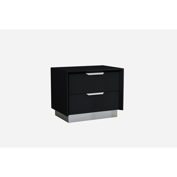 Aspinwall 2 Drawer Nightstand by Orren Ellis