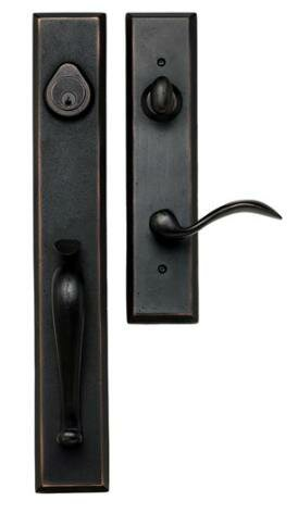 Sandcast Handle Set by Delaney Hardware