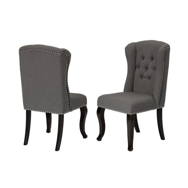 Deen Upholstered Dining Chair by Charlton Home