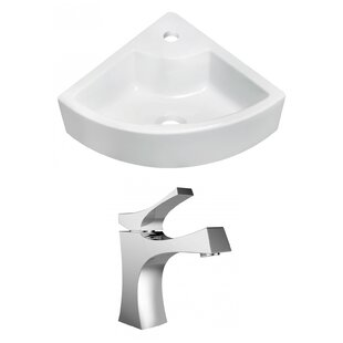 Affordable Above Counter Ceramic Specialty Vessel Bathroom Sink with Faucet By Royal Purple Bath Kitchen
