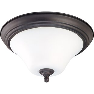 Great choice Cayden 2-Light Outdoor Flush Mount By Fleur De Lis Living