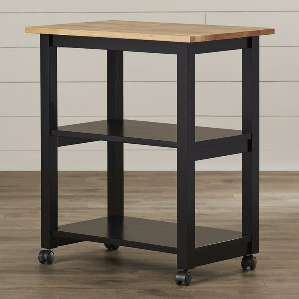 #1 Rolen Kitchen Cart With Butcher Block Top By August Grove 2019 Online