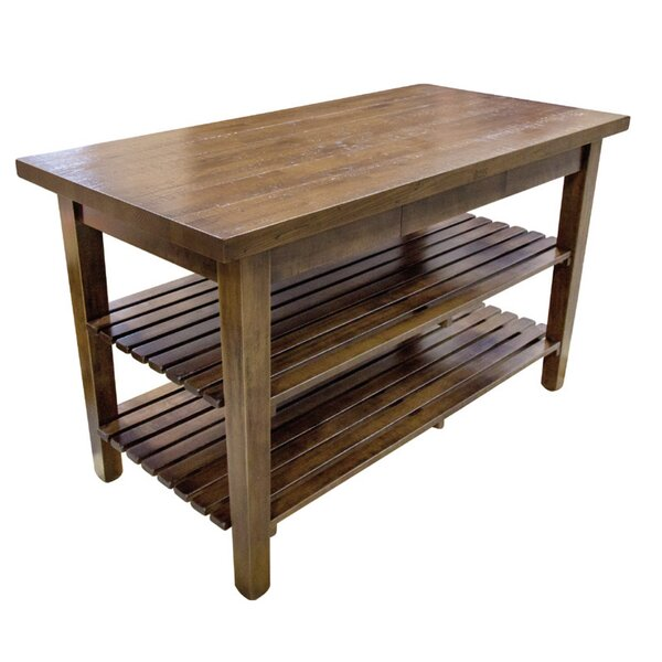 Kitchen Island with Butcher Block Top by John Boos