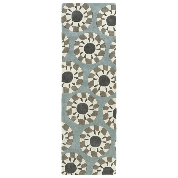 Ronnie Hand-Tufted Gray/Ivory Area Rug by Wrought Studio