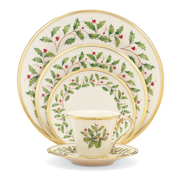 Holiday Bone China 5 Piece Place Setting, Service for 1 by Lenox