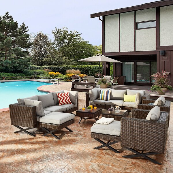 Rimersburg 12 Piece Sofa Seating Group with Cushions by Latitude Run