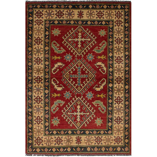 One-of-a-Kind Balham Hand-Knotted Wool Dark Red Area Rug by Bloomsbury Market