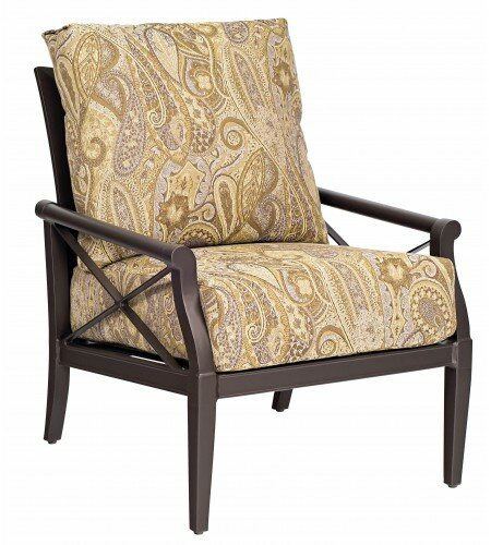 Andover Stationary Patio Chair with Cushions by Woodard