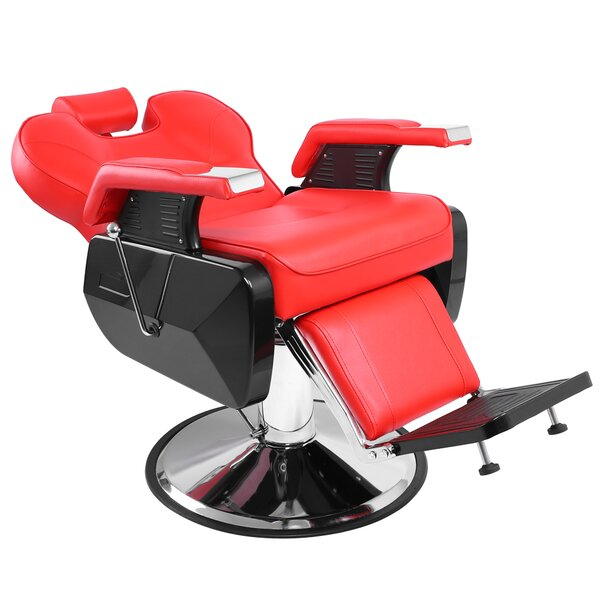 Hydraulic Barber Reclining Massage Chair By Latitude Run