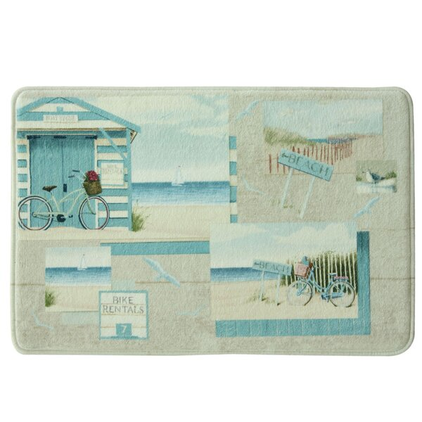 Beach Cruiser Bath Rug by Bacova Guild