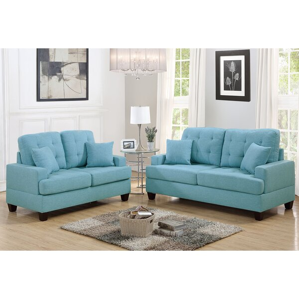 Saphira 2 Piece Living Room Set by Winston Porter