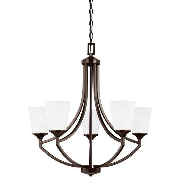 Elkton 5 - Light Shaded Empire Chandelier by Darby Home Co Darby Home Co