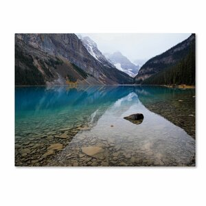 'Lake Louise' by Pierre Leclerc Framed Photographic Print on Wrapped Canvas by Trademark Fine Art