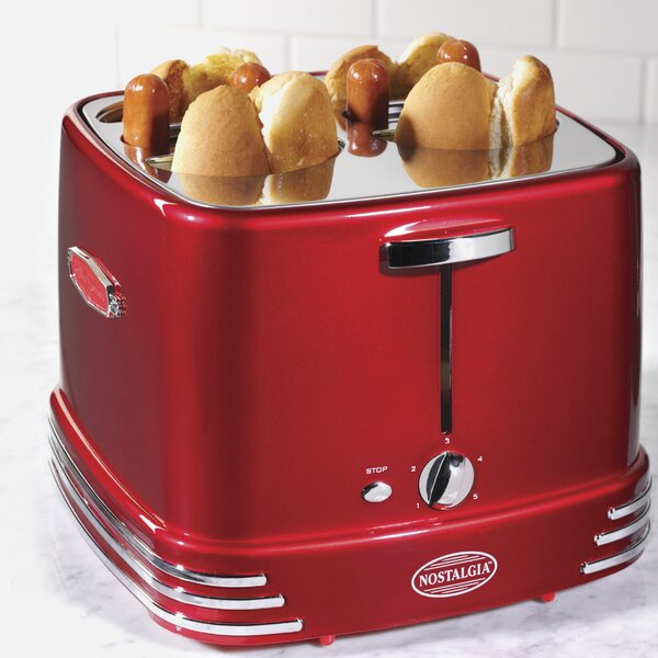 4 Slices Retro Series Pop-Up Hot Dog Toaster by Nostalgia
