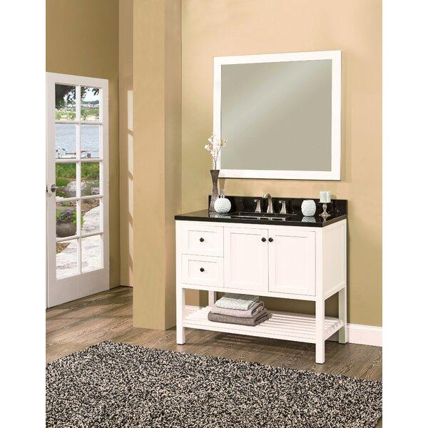 Hampton Bay 42 Single Bathroom Vanity with Mirror by NGY Stone & Cabinet