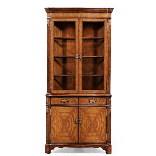 Windsor Serpentine Lighted Corner China Cabinet By Jonathan Charles Fine Furniture Great price